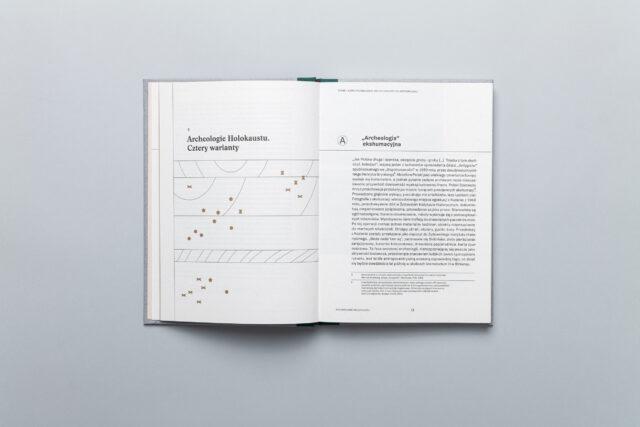 Rozkładówka książki Diany Lelonek Liban i Płaszów –Nowa Archeologia