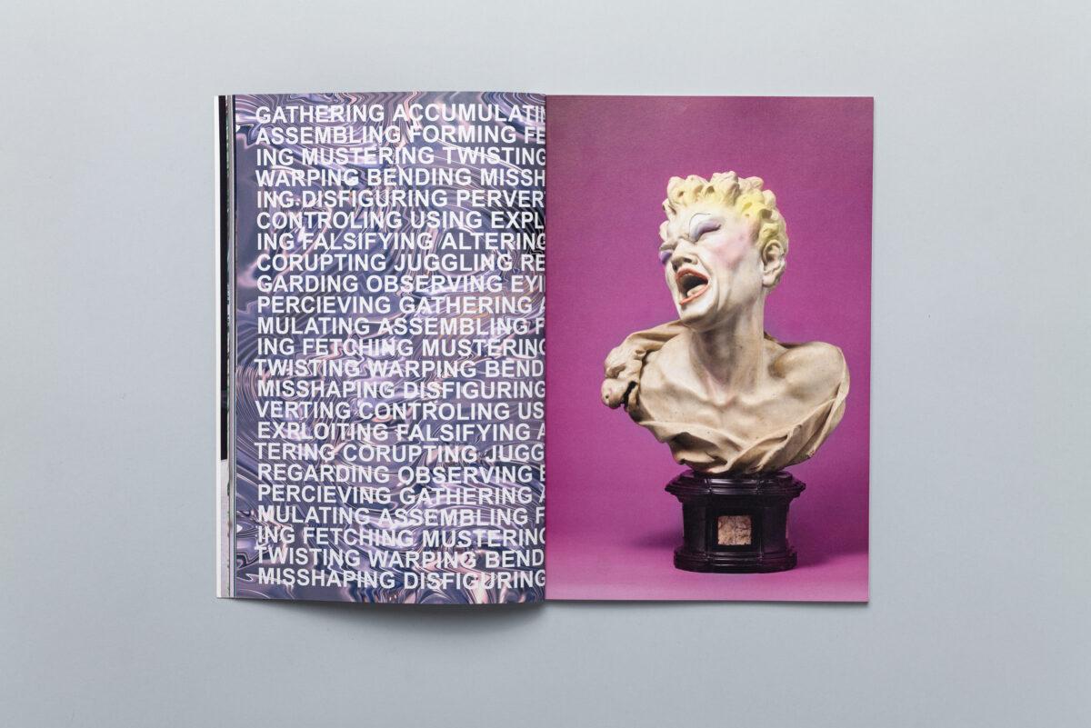 Spread from photobook Museum Studies #1 cover
