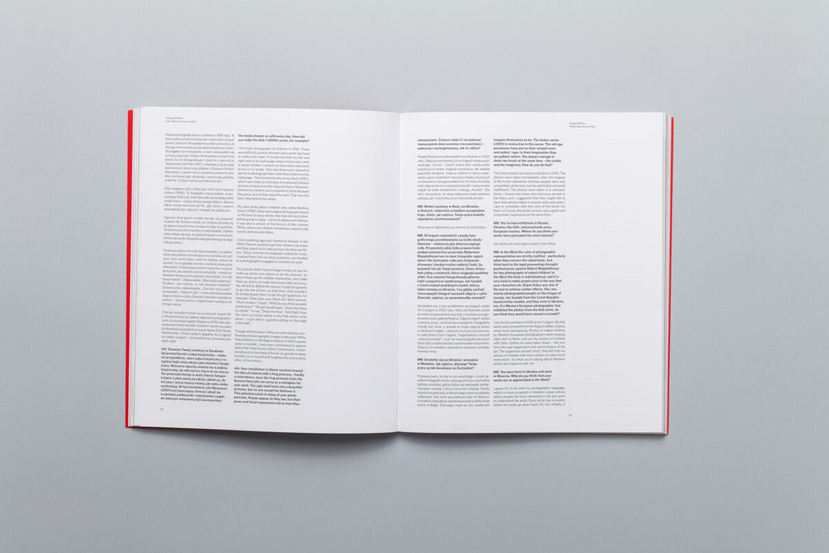 Spread from catalogue Krakow Photomonth 2012