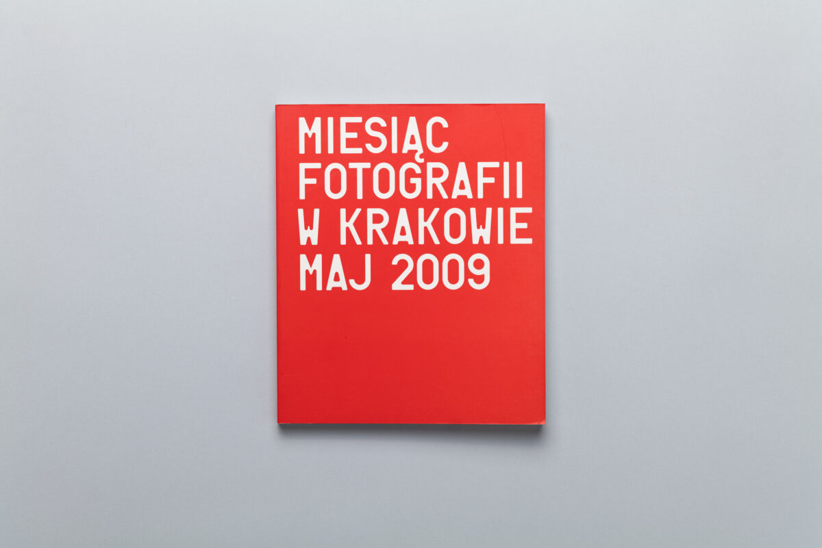 Okładka katalogu Miesiąc Fotografii w Krakowie Maj 2009